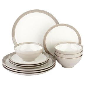 Waitrose Dining Harrogate Grey 12 piece set