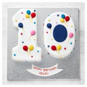 Stupendous Fiona Cairns 10Th Birthday Balloon Stars Cake Waitrose Partners Funny Birthday Cards Online Inifodamsfinfo