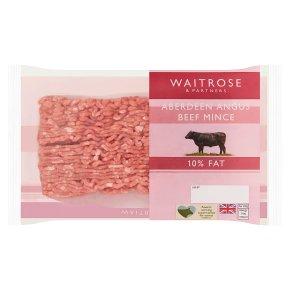 Waitrose Aberdeen Angus mince beef, 10% fat
