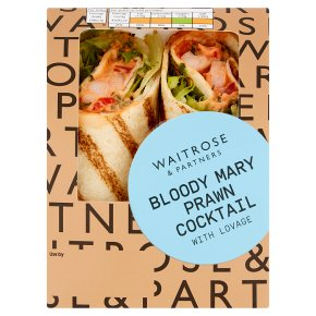Waitrose Bloody Mary Prawn Cocktail Wrap