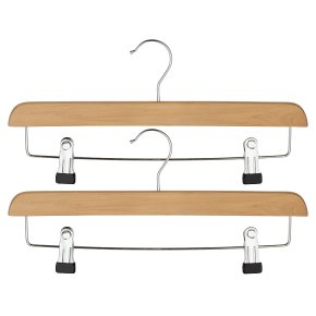 essential Waitrose FSC clip bar hangers, pack of 2