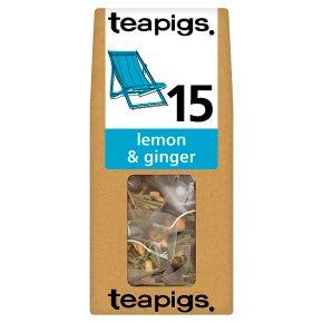 Teapigs lemon & ginger tea 15 bags