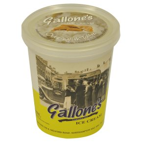 Gallone's ice cream old English toffee