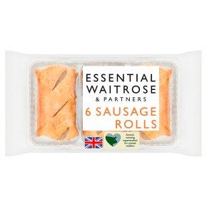 essential Waitrose 6 Sausage Rolls