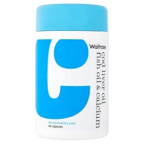Waitrose Cod Liver/ Fish Oil & Calcium