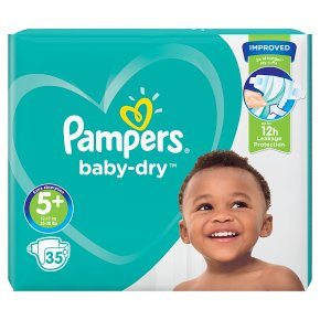 Pampers Baby Dry 5+ Essential 35 Nappies