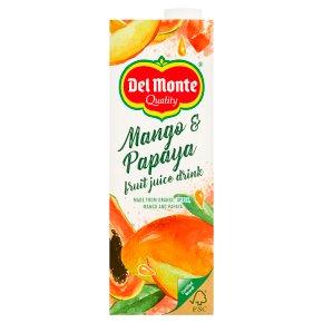 Del Monte mango & papaya juice