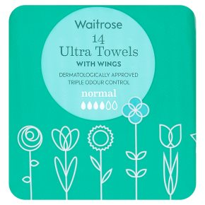 Waitrose Ultra Towels with Wings Normal