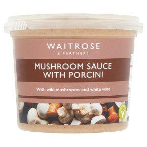Waitrose mushroom sauce with porcini
