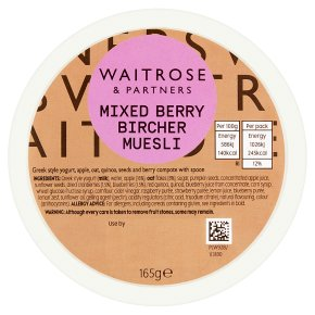 Waitrose MIxed Berry Bircher Muesli