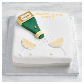 Fiona Cairns Golden Sponge Congratulations Cake
