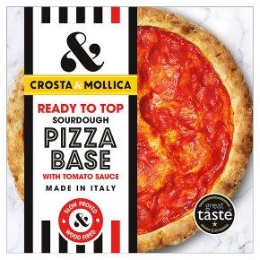 Crosta & Mollica pizza base with tomato sauce