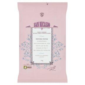 San Nicasio potato chips with Himalayan pink salt