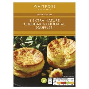 Waitrose Extra Mature Cheddar & Emmental Soufflés