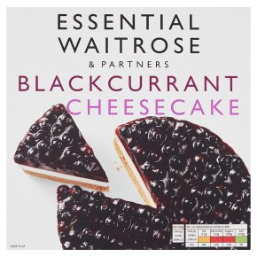 essential Waitrose frozen blackcurrant & cream cheesecake
