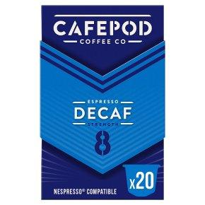 Cafépod Decaffeinated 20 Capsules