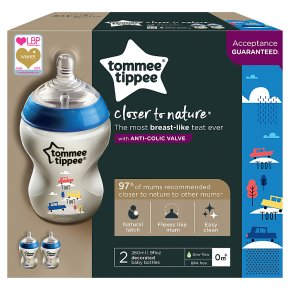 Tommee Tippee Close to Nature Decorated Bottles (2 per pack)