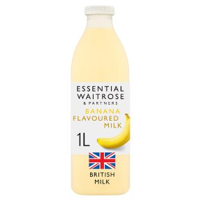 essential Waitrose banana flavoured milk