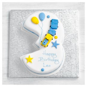 3rd Birthday Train Cake