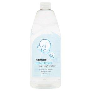 Waitrose Cotton Flower Ironing Water