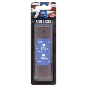 Cherry Blossom Laces Flat Brown