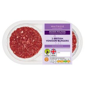 Waitrose 1 venison lightly seasoned burgers 2's
