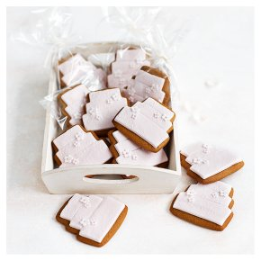 12 Blossom Gingerbread Biscuits  - PASTEL PINK