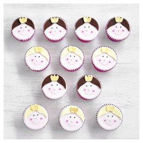 12 Princess Cupcakes