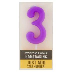 Waitrose Cooks' Homebaking Number 3 Candle