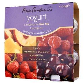 Ann Forshaw's probiotic cherry variety yogurt