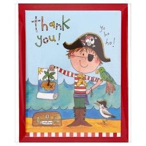 Rachel Ellen pirate thank you cards, pack of 5