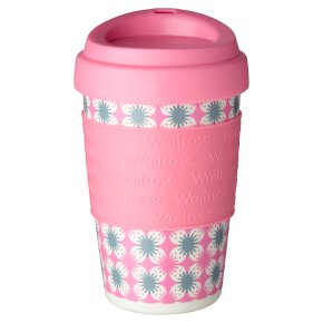 Waitrose Pink Floral Coffee Cup