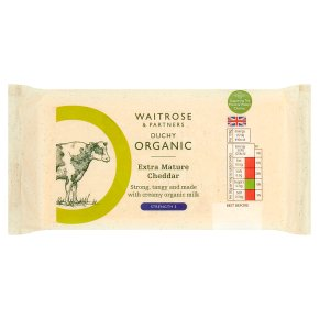 Waitrose Duchy Extra Mature Cheddar Strength 6