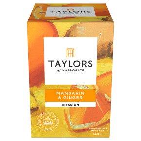 Taylors Mandarin & Ginger wrapped tea bags, 20 pack