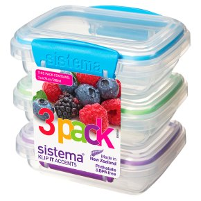 Sistema 200ml 3 Pack Colour Accents