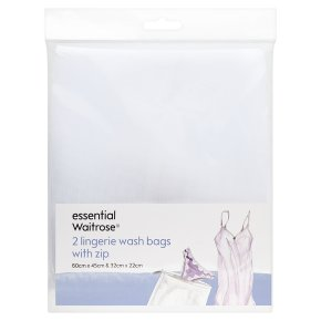 essential Waitrose lingerie wash bags, pack of 2