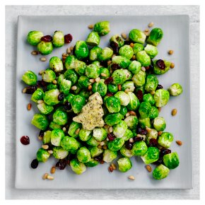 Brussels Sprouts with Cranberry & Roasted Pine Nuts