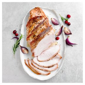 Bronze Feathered Free Range Turkey Breast with Bacon and Black Pepper Sprinkle