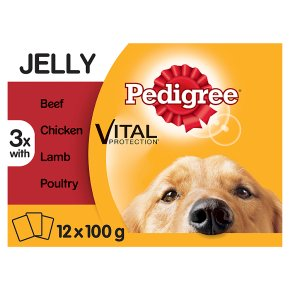 PEDIGREE Dog Pouches Mixed Variety in Jelly 12 x 100g