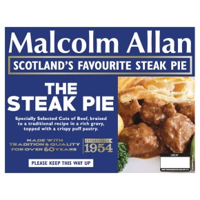 Malcolm Allan The Steak Pie