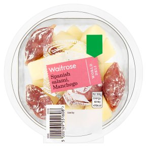 Waitrose World Deli Spanish Salami, Manchego