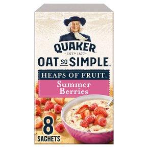 Quaker Oats So Simple Heaps of Fruit summer berries porridge sachets