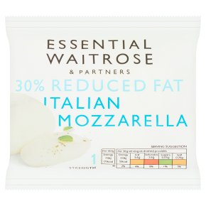 essential Waitrose Italian light Mozzarella cheese, strength 1
