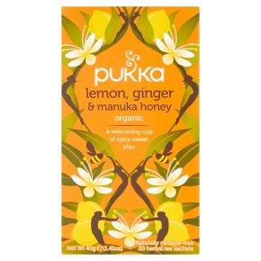 Pukka Lemon Ginger Manuka Honey 20Herbal Tea Sachets