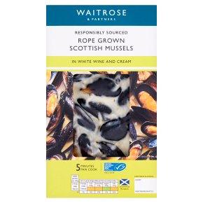 Waitrose Scottish Mussels in White Wine and Cream