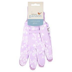 Waitrose Garden Cotton Grip Glove Lilac