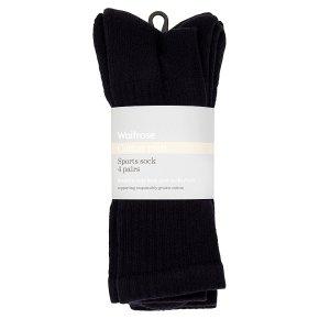 Waitrose Mens Black Sport Socks