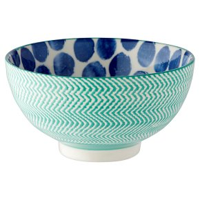Waitrose Fusion Medium Teal Bowl