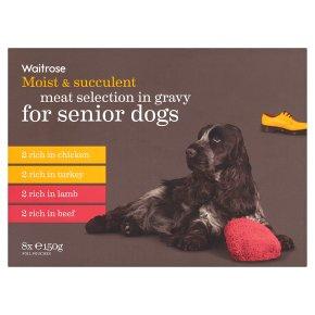 Waitrose meat selection in gravy senior dogs