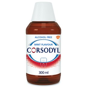 Corsodyl alcohol free mint mouthwash